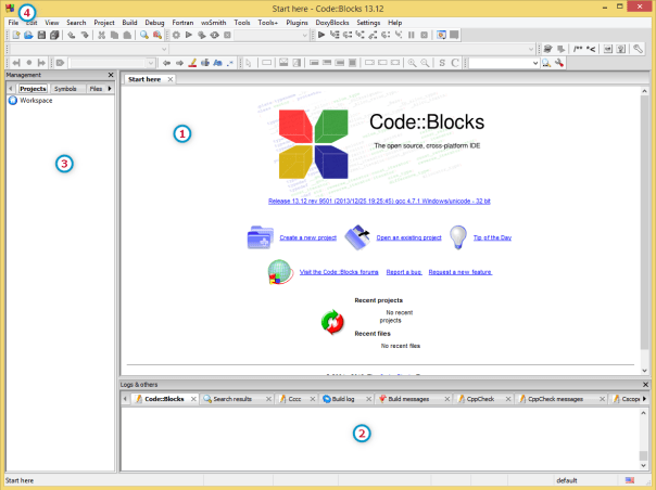 CodeBlocks main window