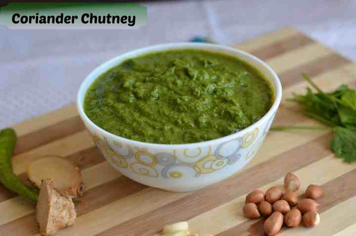 Green coriander chutney or harichutney is very famous for snacks like tikki,kababs, fritters and great for sandwiches.