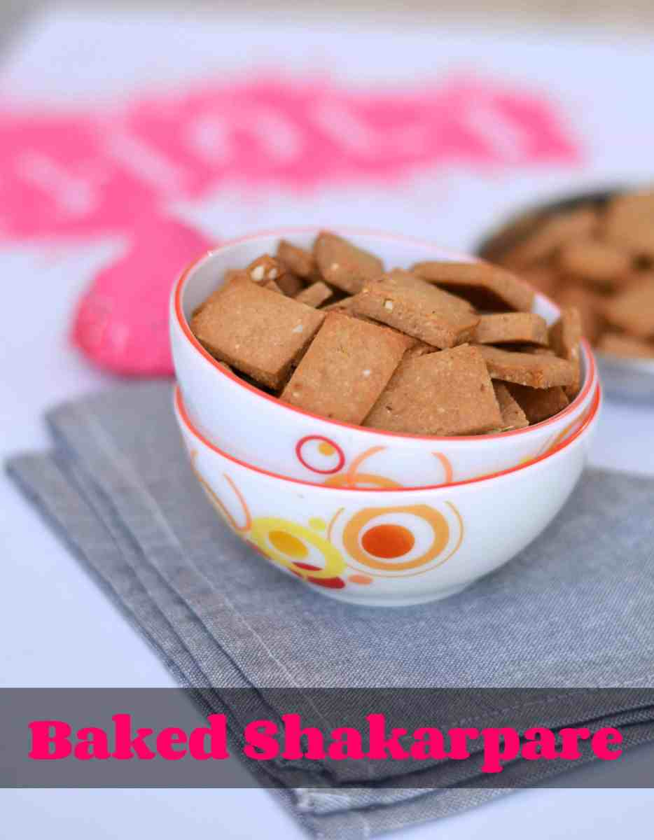 Wholewheat Baked Shakarpara Recipe | Healthy And Sweet Snack For Holi Festival