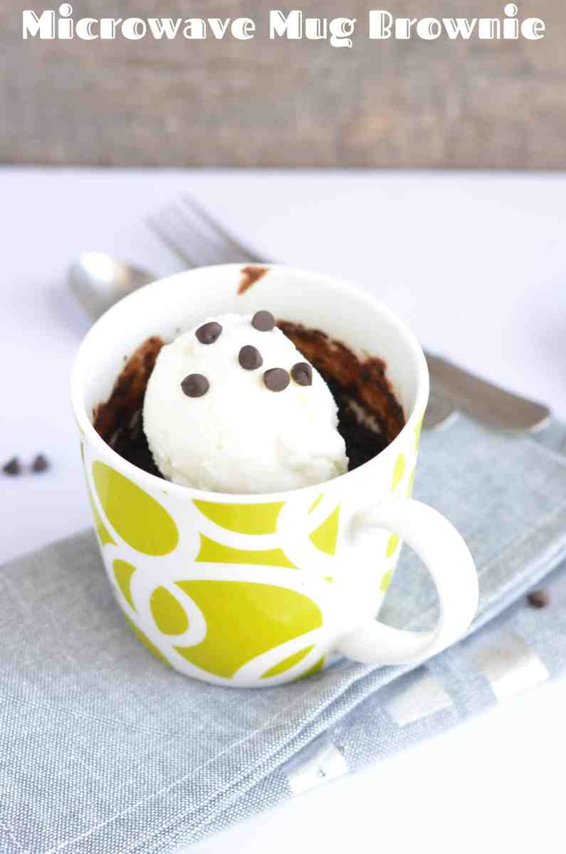 1 Minute Healthy Microwave Mug Brownie Recipe | Eggless Mug Brownie Recipe