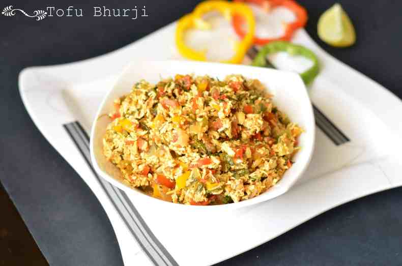 Tofu bhurji is very nutritious and makes a great side dish.This is a vegan dish, those who are lactose intolerant can try this bhurji which is equally tasty. Sauteed tofu with bell peppers, tomato, onion and few spices is a perfect protein-rich dish.
