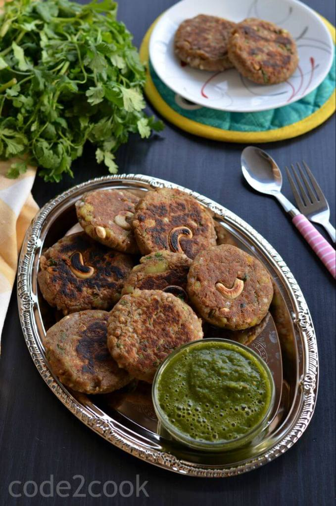 Kuttu ki Tikki or buckwheat cutlet is a healthy, easy to cook and filling cutlet recipe. It is gluten-free, dairy-free and vegan. These cutlets are nutritious, filling and makes a great snack choice for all even on no-fasting days.