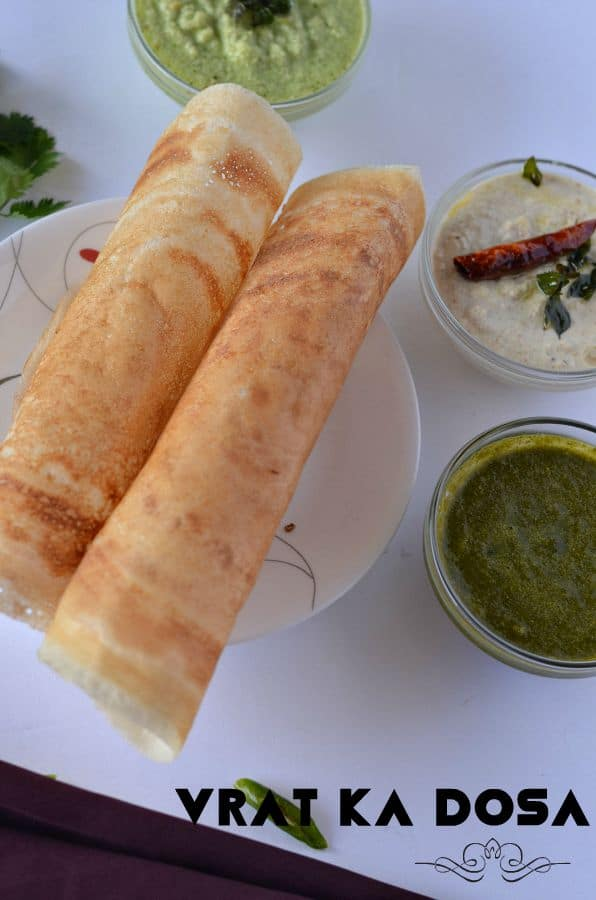 Samak rice dosa or farali dosa is an easy and low calories food during fasting. Barnyard millet or Samak rice is allowed to consume during Navratri fasting days. Samak rice dosa is made with Samak rice and sabudana also known as vrat ka dosa. This a gluten-free, crispy, thin and healthy dosa which requires no fermentation.