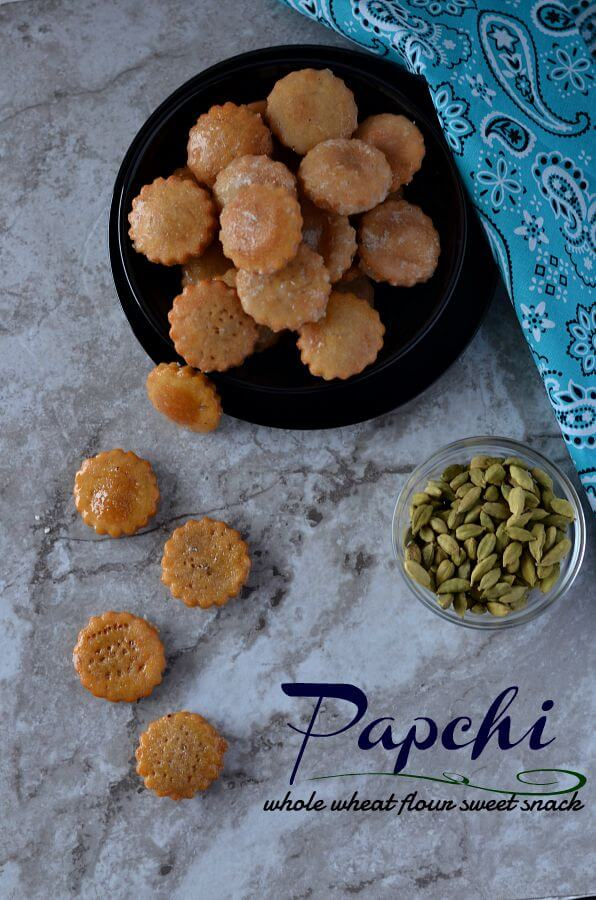 Papchi Recipe | Wholewheat Flour Sweet Snack From Chhattisgarh