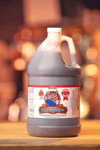 Code 3 Spices 1 gallon Bottle of Award Winning Patriot Sauce Spicy