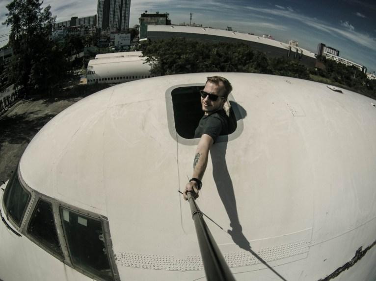 Jumbo jet Selfie