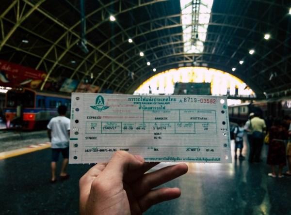 Ayutthaya - Train Ticket