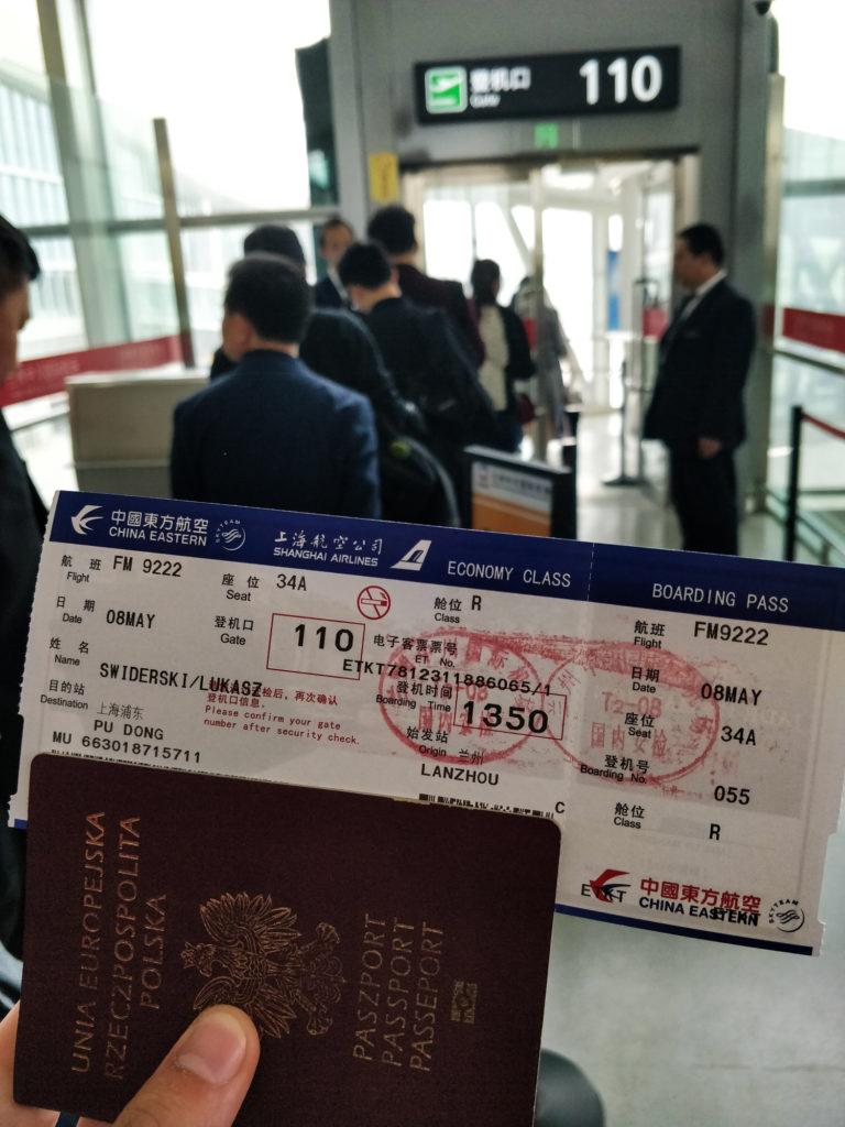 Bilet do Shanghaju