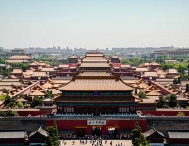 Panorama Zakazanego miasta z Parku Jingshan
