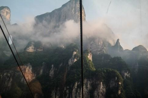Widok na górę Tianmen z kolejki linowej