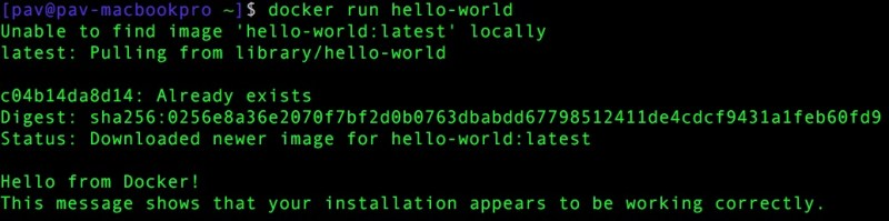 Docker hello-world