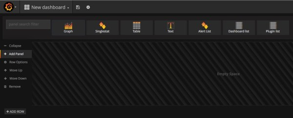 Grafana: add panel