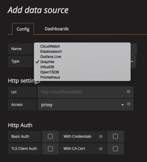 Grafana: data sources