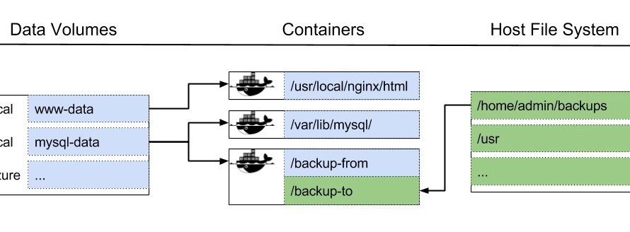 Persistent data in Docker volumes