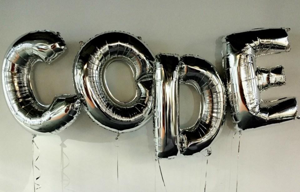 Code in balloons