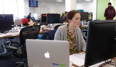 Kat working at FreeAgent