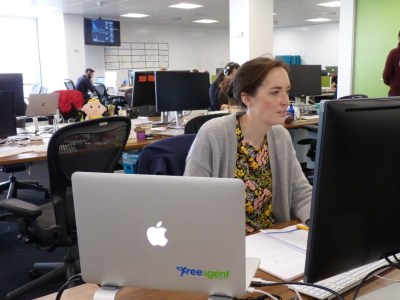Kat working at FreeAgent