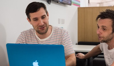 James coding with Instructor Steven