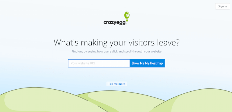 Crazy Egg   Visualize where your visitors click