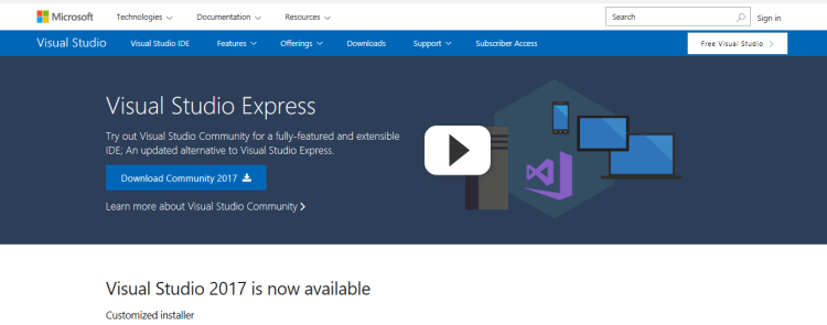 Microsoft Visual Studio Community
