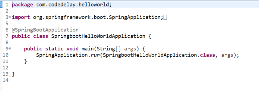 Spring boot hello world java example