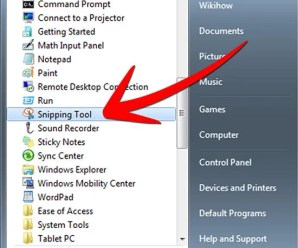Snipping Tool – handy screen shots tool