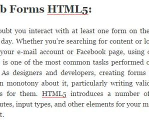 Web Forms HTML5 – HTML Development