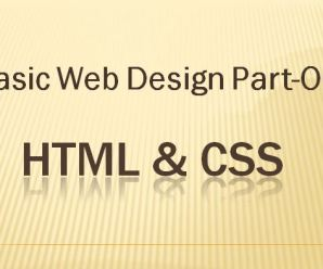 Basic Webdesign Part-One