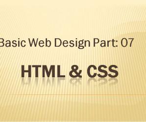 Lesson-07: Basic Webdesign: Part-07