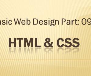 Lesson-09: Basic Webdesign: Part-09