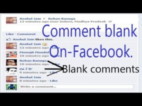 Facebook Blank Comments