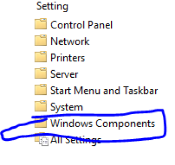 Windows Components