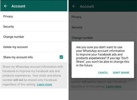 Stop Giving Phone Number From WhatsApp To Facebook   Code Exercise