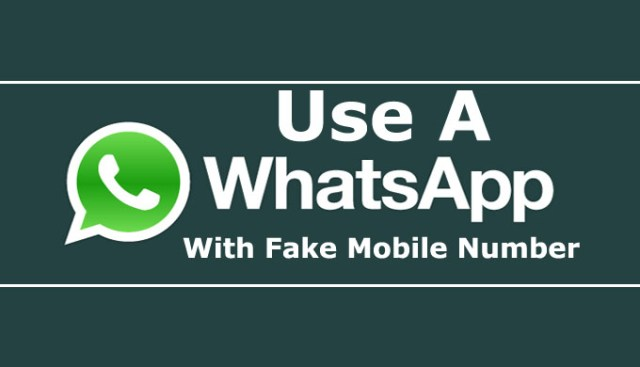 Use Whatsapp With Fake Mobile Number