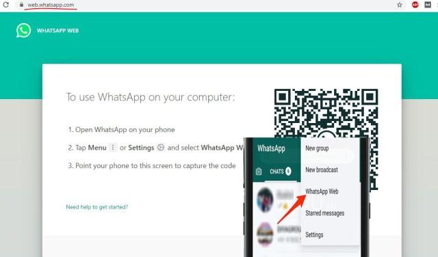 WhatsApp web option