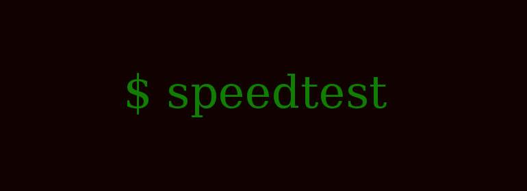 Develop speedtest command line app using Node