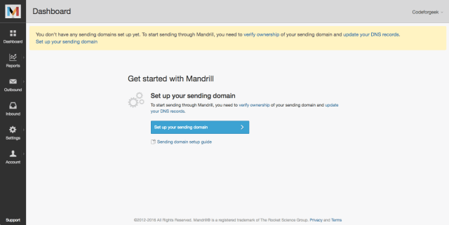 Nodejs and Mandrill