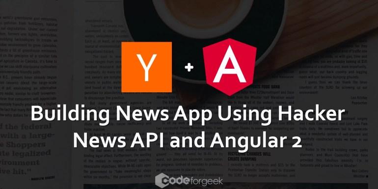 Angular2 App using hackernews API
