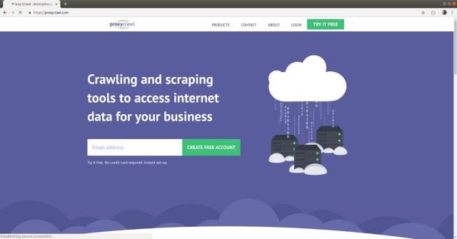proxy crawl website