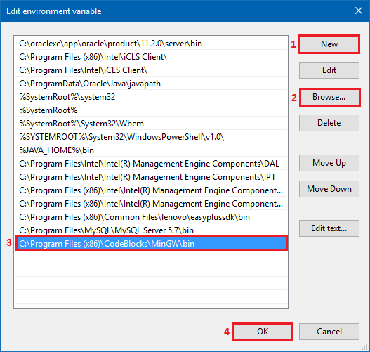 Add new Path environment variable