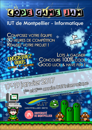 Affiche - Code Game Jam 2017 - 1ere édition