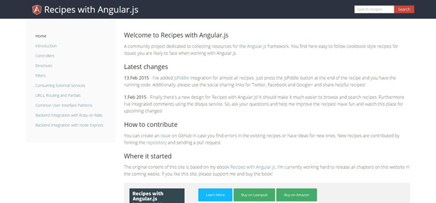 Recipes with Angular.js