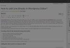 add line breaks to wordpress editor using shortcoder plugin