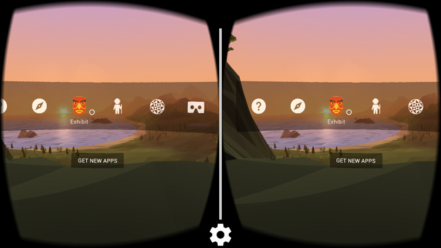 Google cardboard is the official app for google's VR headset. It offers some VR content.