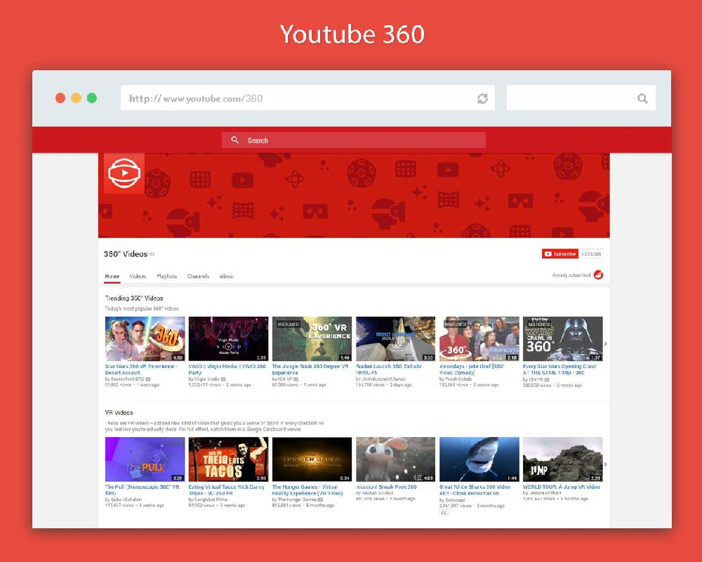 youtube 360 is an auto generated youtube channel offering thousands of amazing 360 degree videos. You can watch these videos even without a Google Cardboard.
