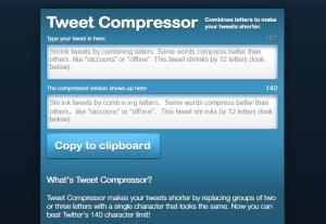 compress tweets
