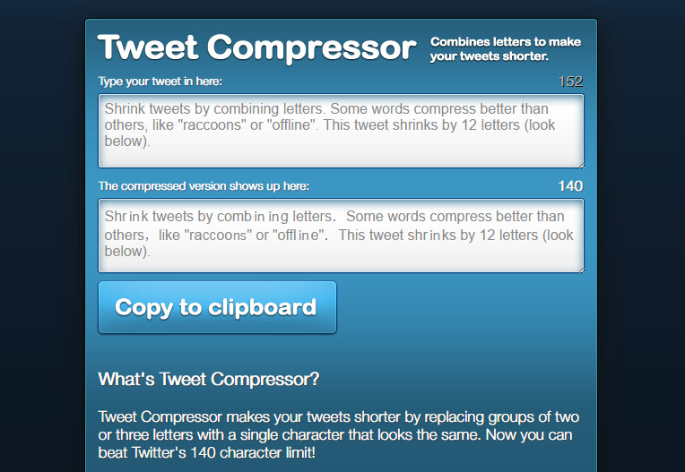 compress tweets