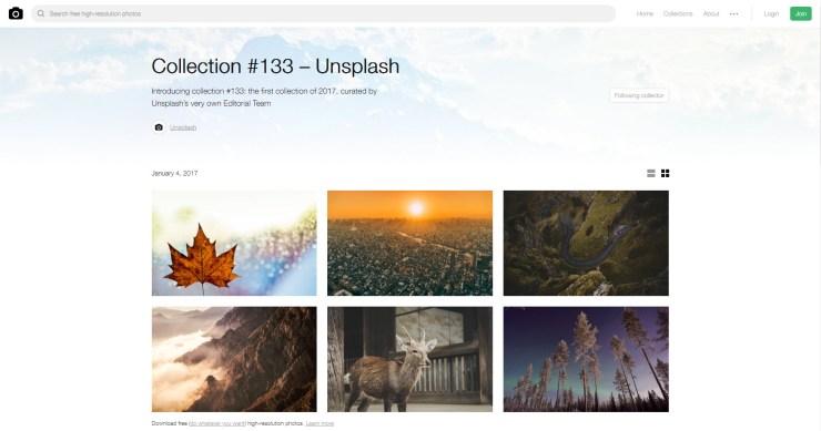 unsplash collection - set photos as desktop wallpapers automatically