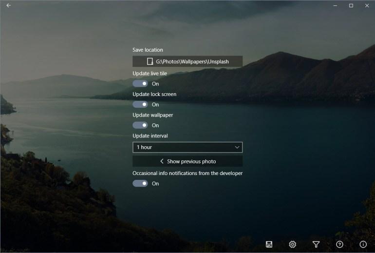 unsplashed settings page