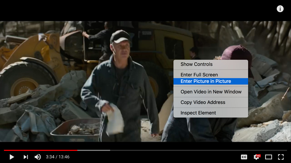 enable macOS picture-in-picture for youtube, Netflix, plex, chrome and firefox